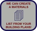 Materials lists are convenient and reduce waste!